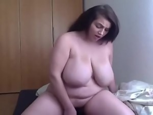 Sexy BBW Rides then Fingers on Cam -..