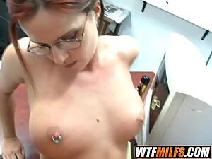 slutty glasses brunette milf 4