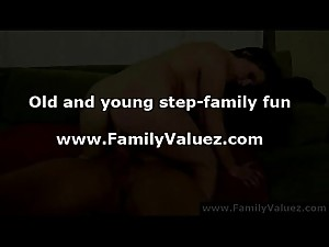 Young step-daughter takes rough anal..