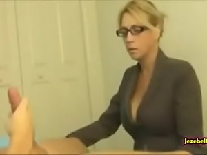 Milf mom caught her son masturbating and..