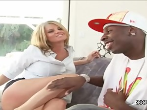 MILF Mom Seduce Black Friend of Son to..