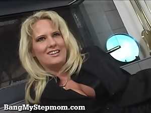 Blonde MILF Rides Her Stepson&#039_s Big..