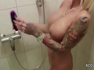 German Big Tit Mom Caught Friend of Son..