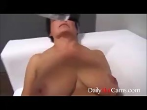Step mom with big tits plays with son -..