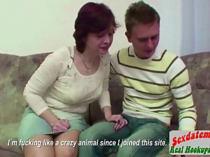 Stepmother Seduce Step Son to Fuck Her..