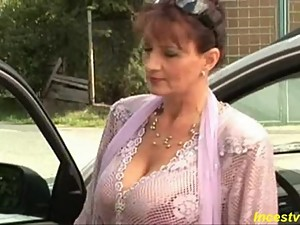 Beautiful busty mother fucking with son