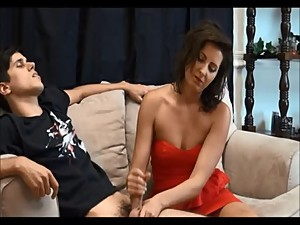 Cougar Stepmom Jerks Stepson - Find..
