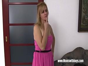 Mature Blonde Stepmom Fucks Her Lucky..