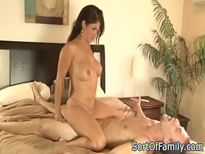 Bigtitted stepmom facailized by stepson