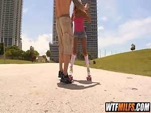 Slutty MILF fucked on roller skates by..