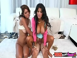 Thick cock for latina mom and daughter