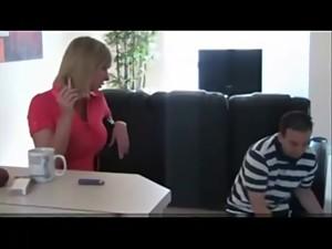Mom fucks husband and son