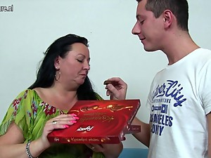 Busty mom fucked by her son's friend