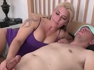 Mom strokes sick son