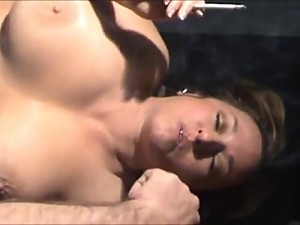 Mother fucking her son while smoking