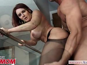 Redheaded MILF Janet Mason seduces her..
