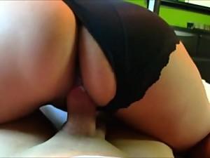 Latina slut cunt Sandra Torres bounces..