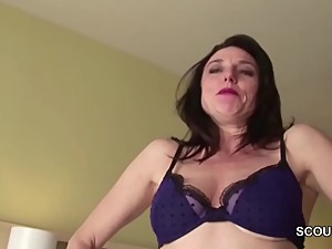 Mom Caught Step-Son And Helps with Fuck..