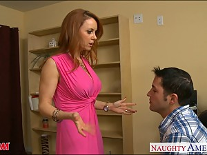 Firm bodied redhead mom Janet Mason gets..