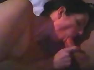 stepmom gives son a blowjob