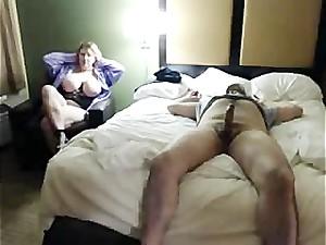 Horny Big Tit Stepmom Sneaks into Hotel..