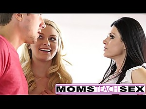Step mom and son make teen squirt in hot..